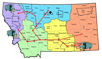 Courier Route Map